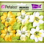Petaloo - Flora Doodles Collection - Mulberry Flowers - Camelia - Tulip Yellow