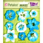 Petaloo - Flora Doodles Collection - Mulberry Flowers - Mini Floral - Marine Blue