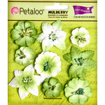 Petaloo - Flora Doodles Collection - Mulberry Flowers - Mini Floral - Mantis Green