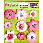 Petaloo - Flora Doodles Collection - Mulberry Flowers - Mini Floral - In the Pink