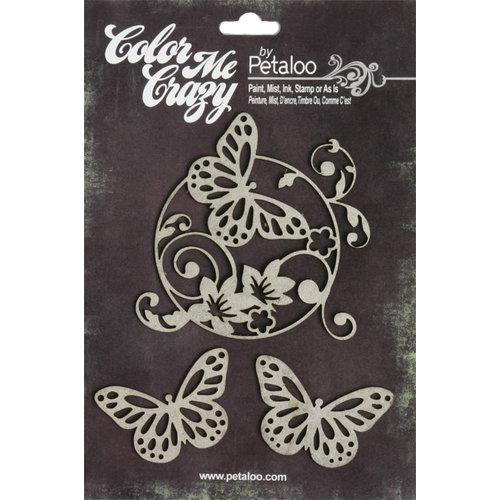 Petaloo - Color Me Crazy Collection - Chipboard Pieces - Butterflies