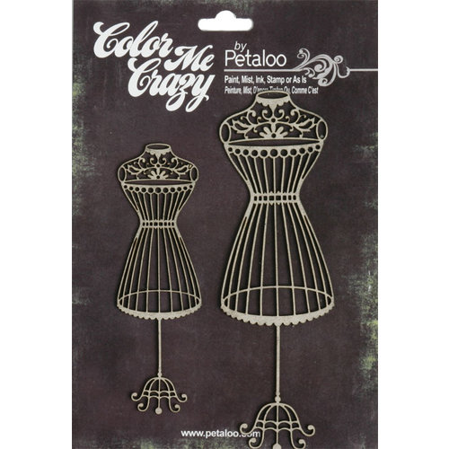 Petaloo - Color Me Crazy Collection - Chipboard Pieces - Mannequins