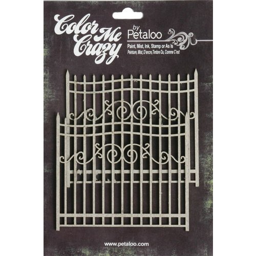 Petaloo - Color Me Crazy Collection - Chipboard Pieces - Gates