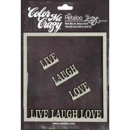 Petaloo - Color Me Crazy Collection - Chipboard Pieces - Live Laugh ...