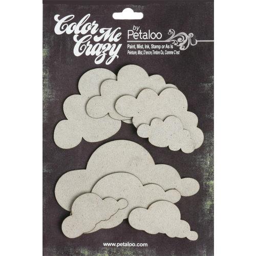 Petaloo - Color Me Crazy Collection - Chipboard Pieces - Clouds