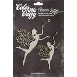 Petaloo - Color Me Crazy Collection - Chipboard Pieces - Fairies