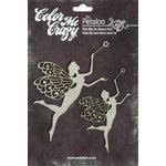 Petaloo - Color Me Crazy Collection - Chipboard Pieces - Fairies