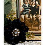 Petaloo - Estate Collection - Knotted Ribbon Flower - Black