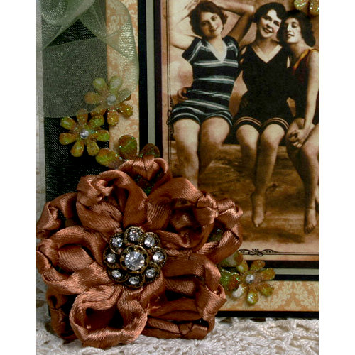 Petaloo - Estate Collection - Knotted Ribbon Flower - Brown