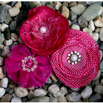 Petaloo - Expressions Collection - Fabric Flowers - Fuchsia