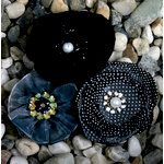 Petaloo - Expressions Collection - Fabric Flowers - Black