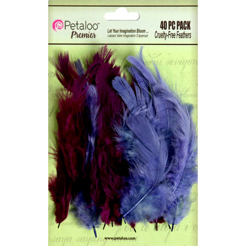 Petaloo - Expressions Collection - Feathers - Purple and Lavender