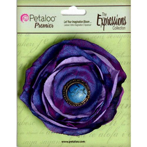 Petaloo - Expressions Collection - Bohemian Silk Flower - Purple and Lavender