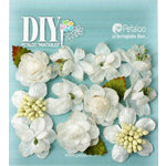 Petaloo - DIY Paintables Collection - Floral Embellishments - Botanica Minis - White