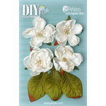 Petaloo - DIY Paintables Collection - Floral Embellishments - Botanica Blooms - White