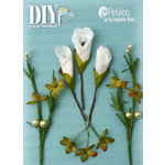 Petaloo - DIY Paintables Collection - Floral Embellishments - Calla Lily Cluster - White