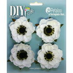 Petaloo - DIY Paintables Collection - Floral Embellishments - Anenome - Canvas - White
