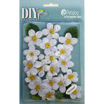Petaloo - DIY Paintables Collection - Floral Embellishments - Cherry Blossom - Velvet - White