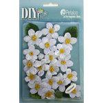 Petaloo - DIY Paintables Collection - Floral Embellishments - Cherry Blossom - Velvet - White