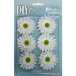 Petaloo - DIY Paintables Collection - Floral Embellishments - Gerber Daisy - White
