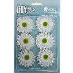 Petaloo - DIY Paintables Collection - Floral Embellishments - Gerber Daisy - White