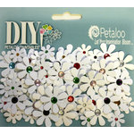 Petaloo - DIY Paintables Collection - Floral Embellishments - Jewel Florettes - Multicolor Centers
