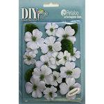 Petaloo - DIY Paintables Collection - Floral Embellishments - Dogwood - Canvas - White
