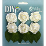 Petaloo - DIY Paintables Collection - Floral Embellishments - Mini Garden Rosettes - White