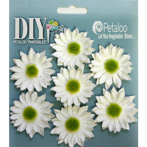 Petaloo - DIY Paintables Collection - Floral Embellishments - Mini Daisy - White