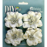 Petaloo - DIY Paintables Collection - Floral Embellishments - Ruffled Rose - White