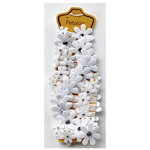 Petaloo - Felt Flower Garland - White - 4 Feet