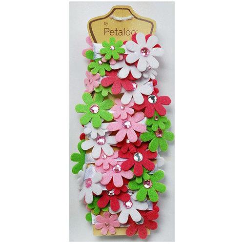 Petaloo - Felt Flower Garland - Raspberry Sherbet - 4 Feet