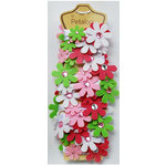 Petaloo - Felt Flower Garland - Raspberry Sherbet - 4 Feet
