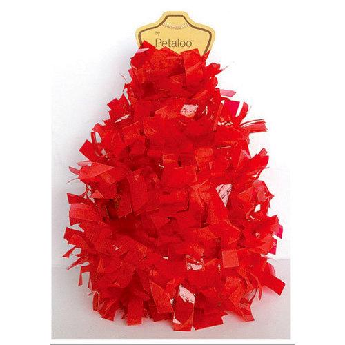 Petaloo - Tissue Paper Garland - Red - 6 Feet