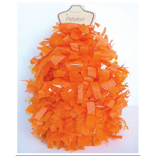 Petaloo - Tissue Paper Garland - Orange - 6 Feet