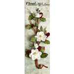 Petaloo - Canterbury Collection - Magnolia and Berries Branch - White