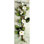 Petaloo - Canterbury Collection - Rose and Berries Branch - White