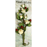 Petaloo - Canterbury Collection - Rose and Berries Branch - Cream