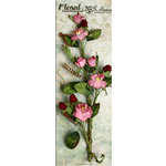 Petaloo - Canterbury Collection - Rose and Berries Branch - Mauve
