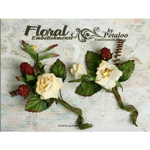 Petaloo - Canterbury Collection - Rose and Berries Picks - Cream