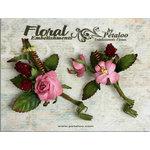Petaloo - Canterbury Collection - Rose and Berries Picks - Mauve