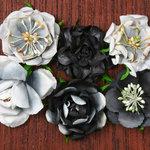 Petaloo - Canterbury Collection - Roses - Charcoal