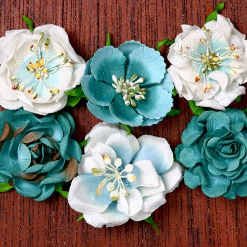Petaloo - Canterbury Collection - Roses - Teal
