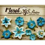 Petaloo - Canterbury Collection - Floral Embellishments - Mini - Marine Blue