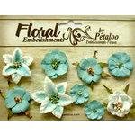 Petaloo - Canterbury Collection - Floral Embellishments - Mini - Teal