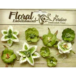 Petaloo - Canterbury Collection - Floral Embellishments - Mini - Lime