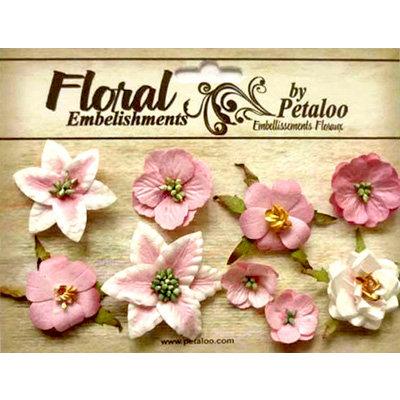Petaloo - Canterbury Collection - Floral Embellishments - Mini - Pink