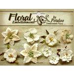 Petaloo - Canterbury Collection - Floral Embellishments - Mini - Vanilla