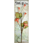 Petaloo - Canterbury Collection - Trumpet Vine Spray - Scarlet