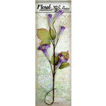 Petaloo - Canterbury Collection - Trumpet Vine Spray - Violet